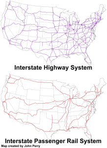 National Highway-Rail Comparison with states